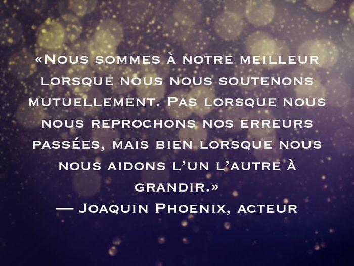 L'une des phrases de Joaquin Phoenix fait partie des 50 citations inspirantes pour le Nouvel An 2021.