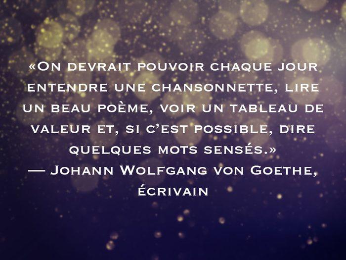 L'une des phrases de Johann Wolfgang von Goethe fait partie des 50 citations inspirantes pour le Nouvel An 2021.