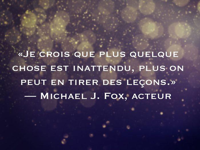 L'une des phrases de Michael J. Fox fait partie des 50 citations inspirantes pour le Nouvel An 2021.