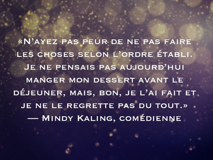L'une des phrases de Mindy Kaling fait partie des 50 citations inspirantes pour le Nouvel An 2021.