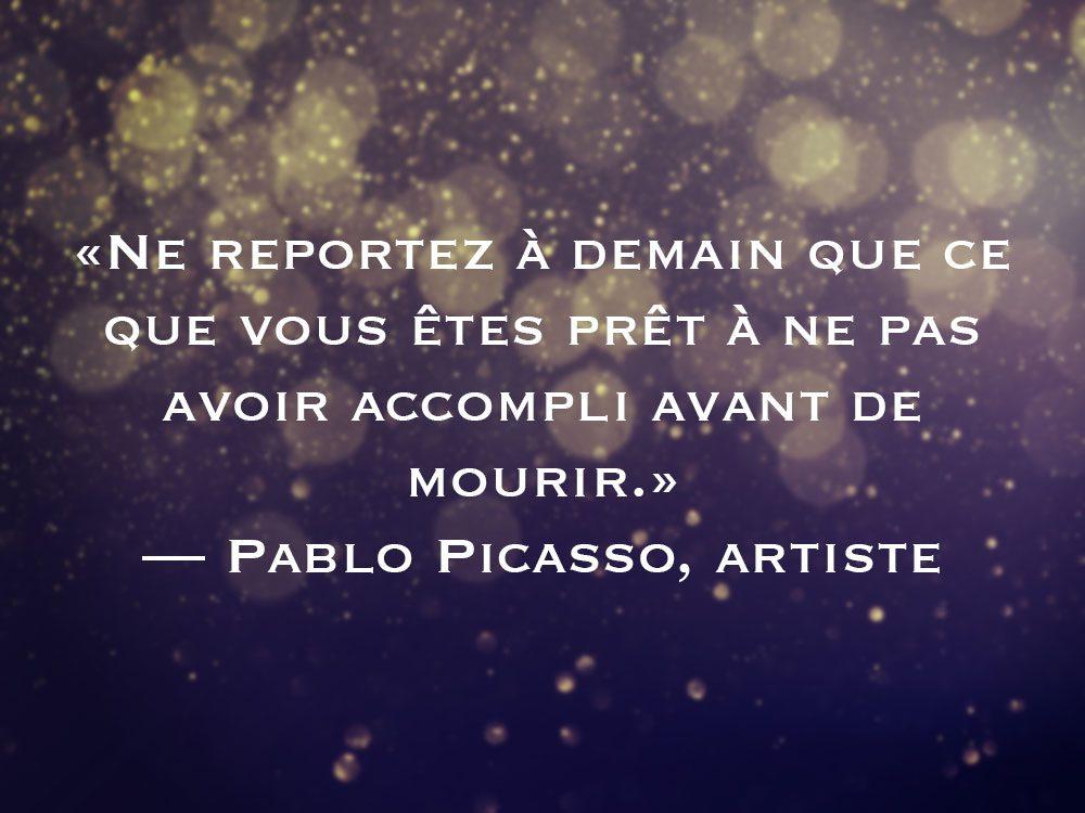 L'une des phrases de Pablo Picasso fait partie des 50 citations inspirantes pour le Nouvel An 2021.
