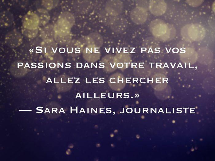 L'une des phrases de Sara Haines fait partie des 50 citations inspirantes pour le Nouvel An 2021.