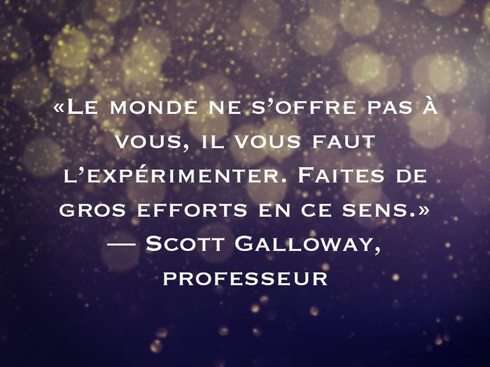 L'une des phrases de Scott Galloway fait partie des 50 citations inspirantes pour le Nouvel An 2021.
