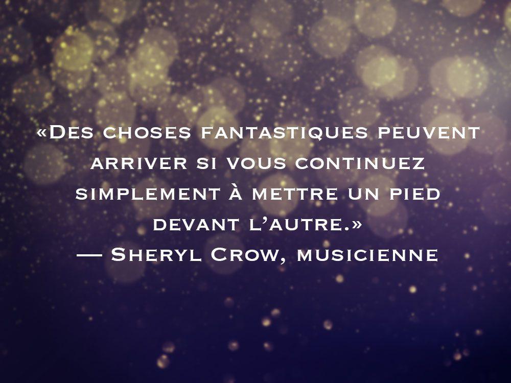 L'une des phrases de Sheryl Crow fait partie des 50 citations inspirantes pour le Nouvel An 2021.