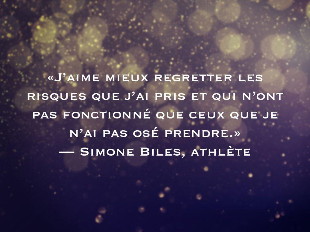 L'une des phrases de Simone Biles fait partie des 50 citations inspirantes pour le Nouvel An 2021.