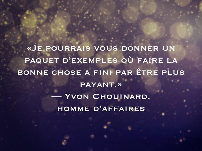 L'une des phrases d'Yvon Chouinard fait partie des 50 citations inspirantes pour le Nouvel An 2021.