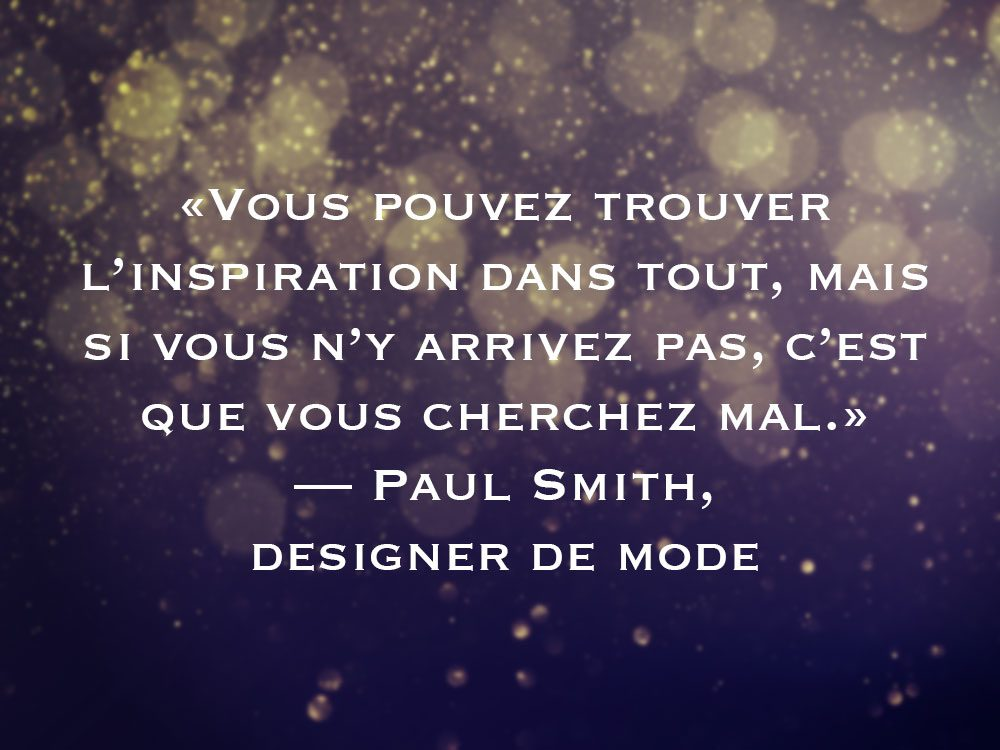L'une des phrases de Paul Smith fait partie des 50 citations inspirantes pour le Nouvel An 2021.