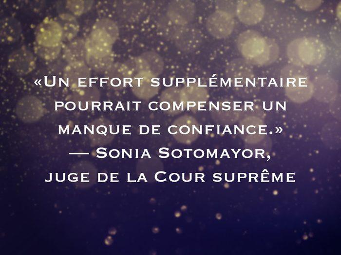 L'une des phrases de Sonia Sotomayor fait partie des 50 citations inspirantes pour le Nouvel An 2021.