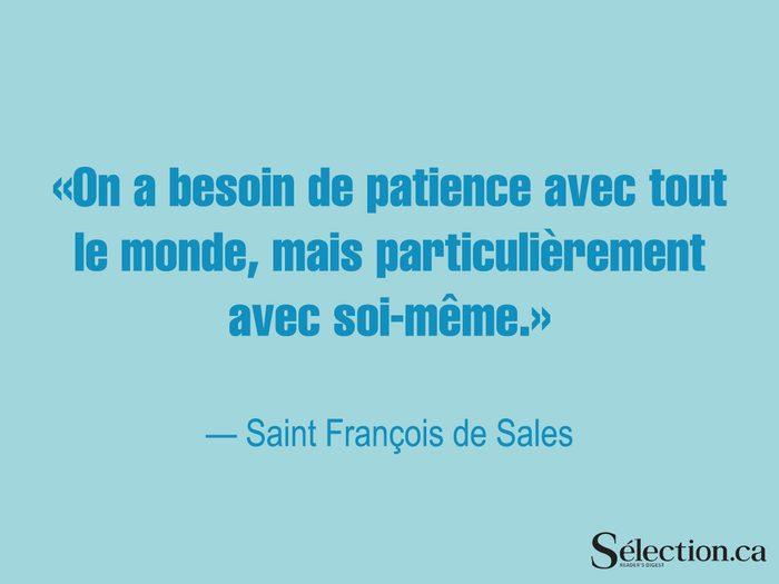 Lisez ces citations sur le bonheur, dont celle de Saint François de Sales.