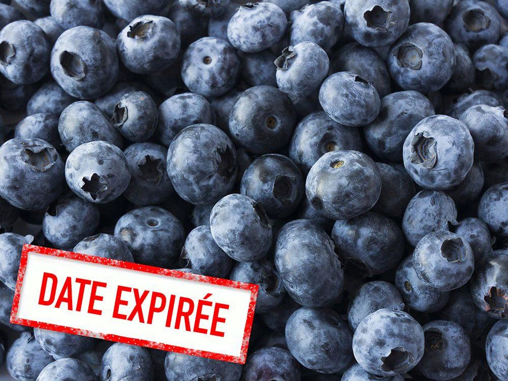 Faites attention à la date de péremption des petits fruits rouges.