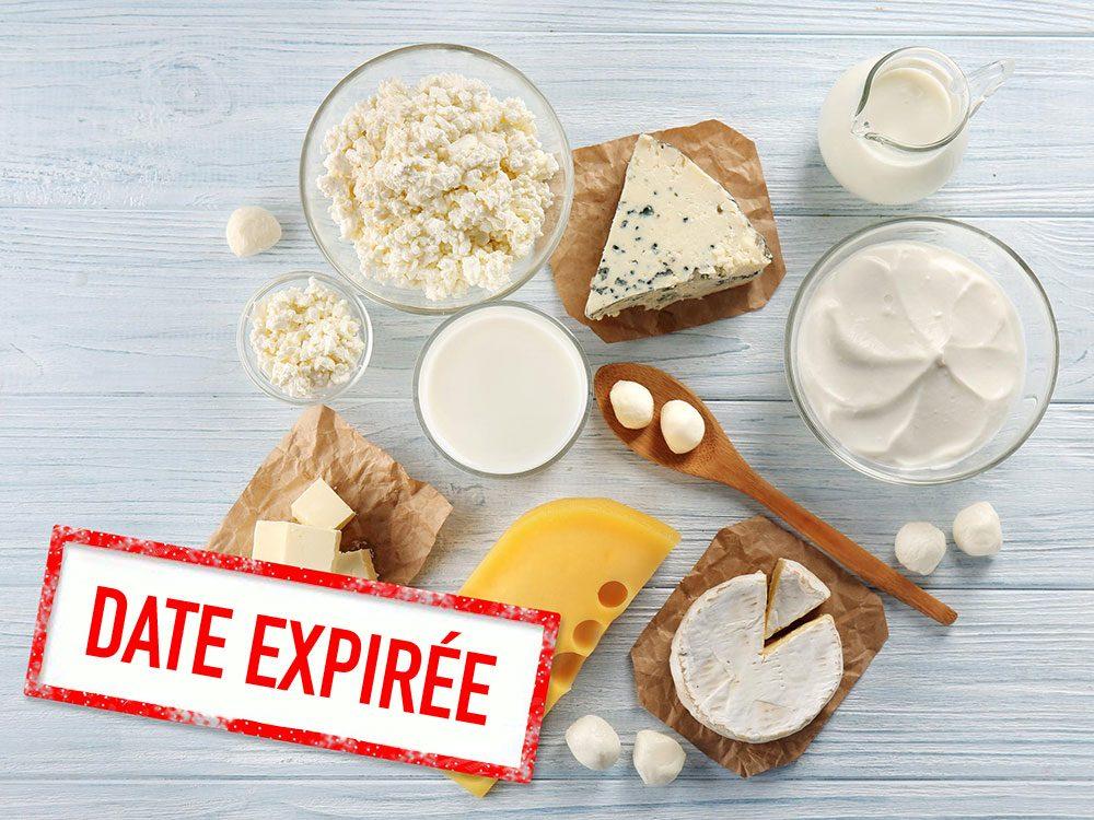 Faites attention à la date de péremption des fromages à pâte molle.