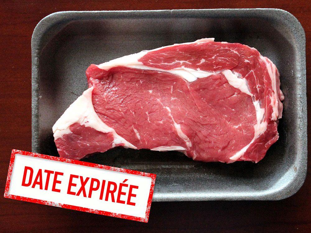 Faites attention à la date de péremption des viandes fraîches.