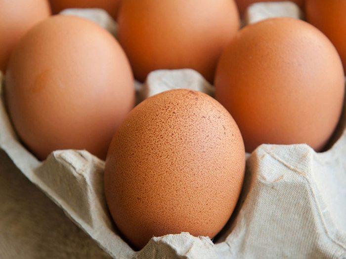 Évitez d'oublier vos œufs dans la voiture.