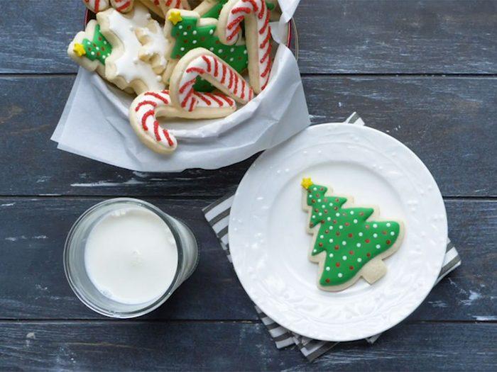 Biscuits de Noël à décorer.
