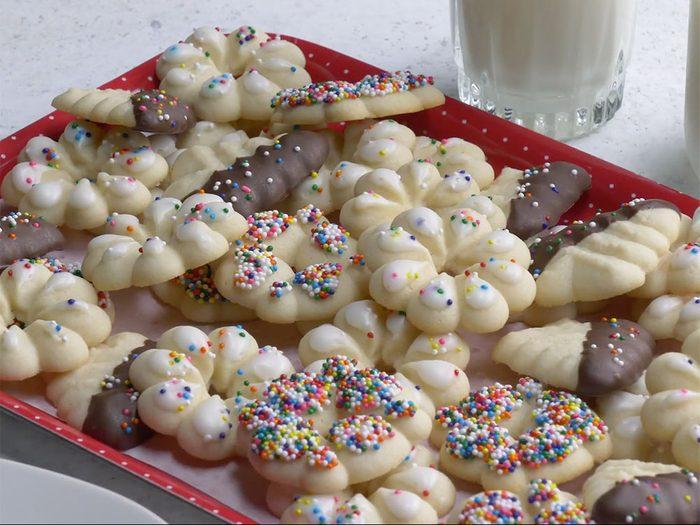 Biscuits Spritz au beurre.