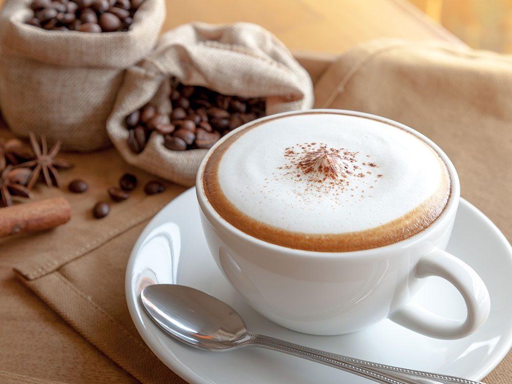Types de café: le cappuccino.