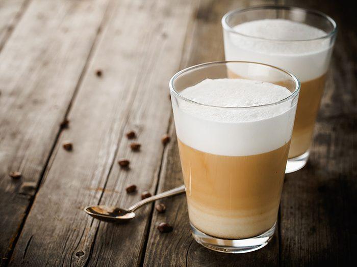 Types de café: le macchiato.
