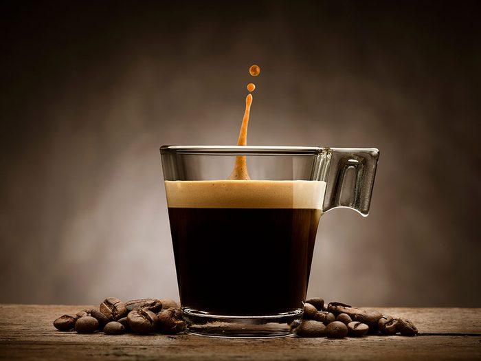 Types de café: l'allongé.