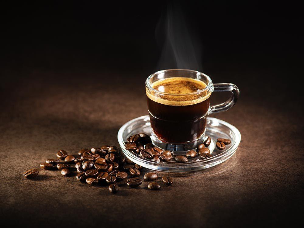 Le café espresso fait partie des types de cafés très forts.