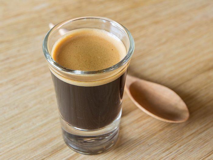 Types de café: le ristretto.