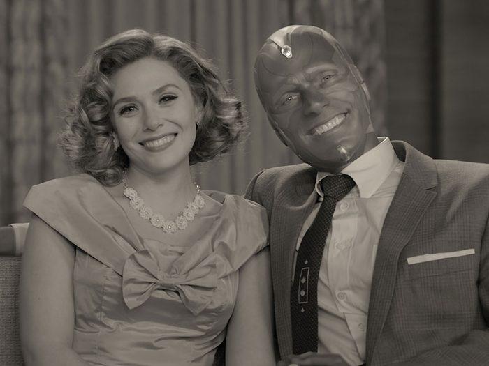 Dans la série Wandavision les images sont en noir et blanc.