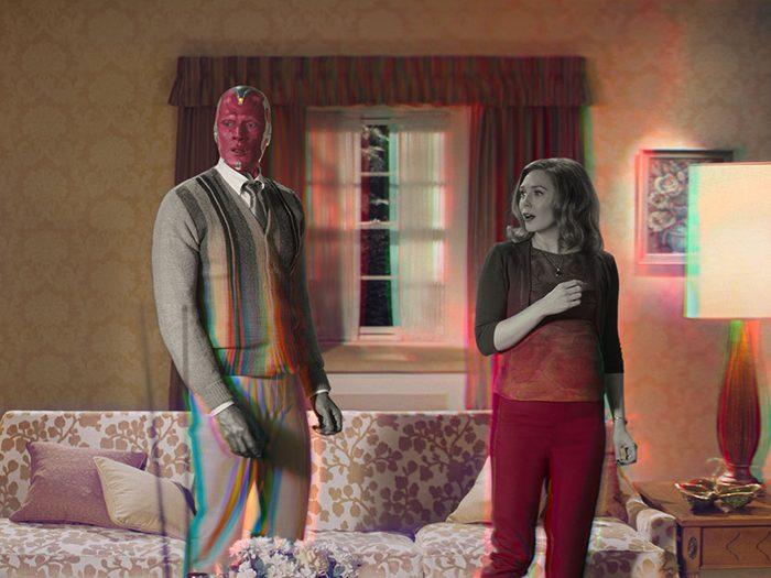 L'étrangeté de la série WandaVision.