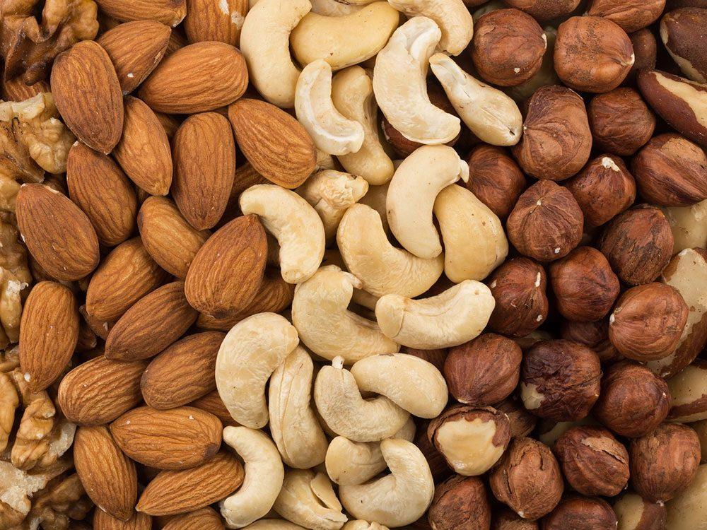 Conservation des aliments: mettez les noix au frigo.