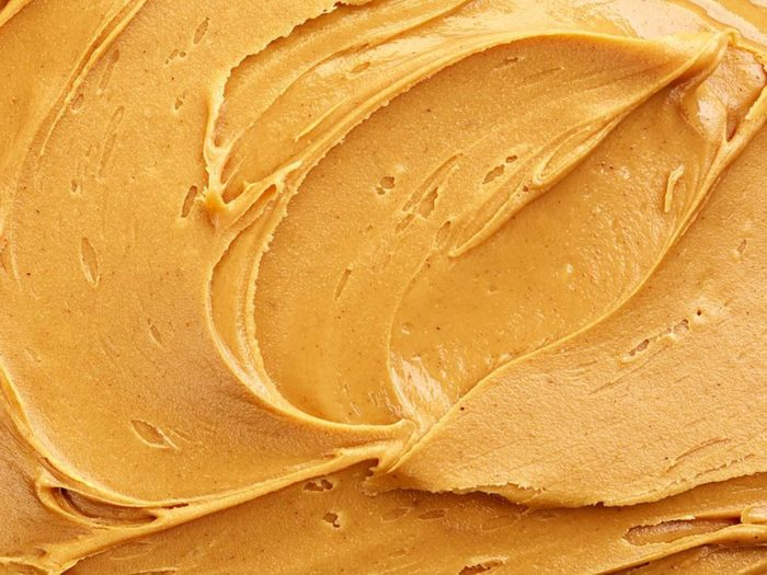 Conservation des aliments: mettez le beurre d'arachide naturel au frigo.