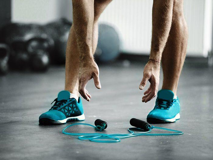 L'insertion du saut à la corde dans votre routine.