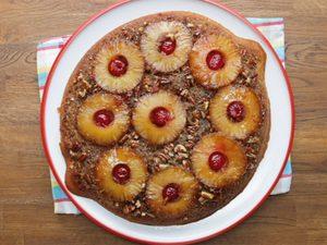 Gâteau renversé à l'ananas (épicé)