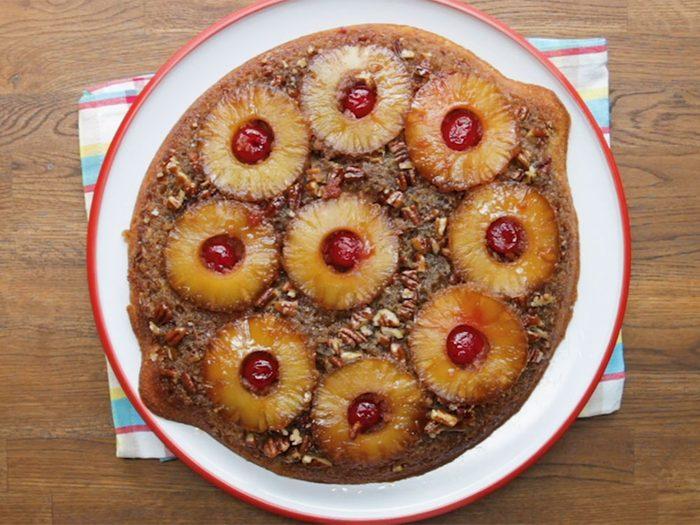 La recette du gâteau renversé à l'ananas (épicé).