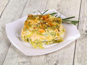 Recette minceur de lasagne de courgettes aux fruits de mer
