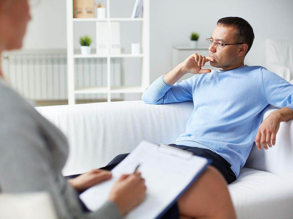Il n'est pas nécessaire d'avoir unobjectif particulier quand on entreprend une thérapie.