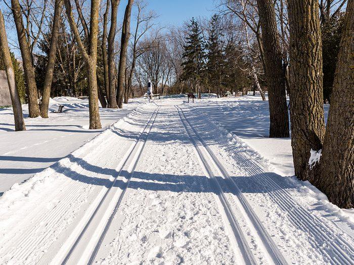 Le Centre de la nature de Laval est l'un des sentiers de raquette au Québec.