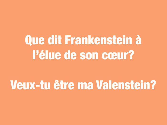 Blagues courtes: que dit Frankenstein à l'élue de son cœur?