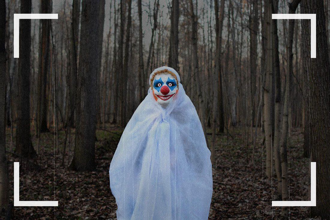 Des caméras de surveillance ont pu capturer des images d'un clown silencieux.