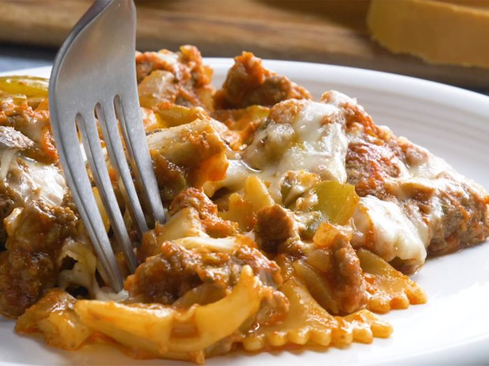 Casserole italienne à la viande.