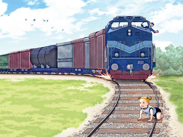 Drame: une enfant sur les rails.