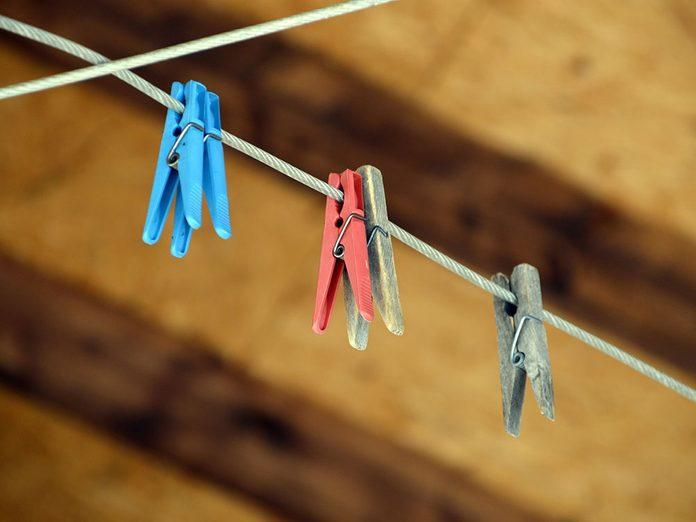 Tendez une corde à linge pour économiser.