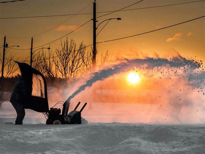 La beauté de l'hiver canadien à travers cette image prise par Shawn Cormier de Moncton, au Nouveau-Brunswick.