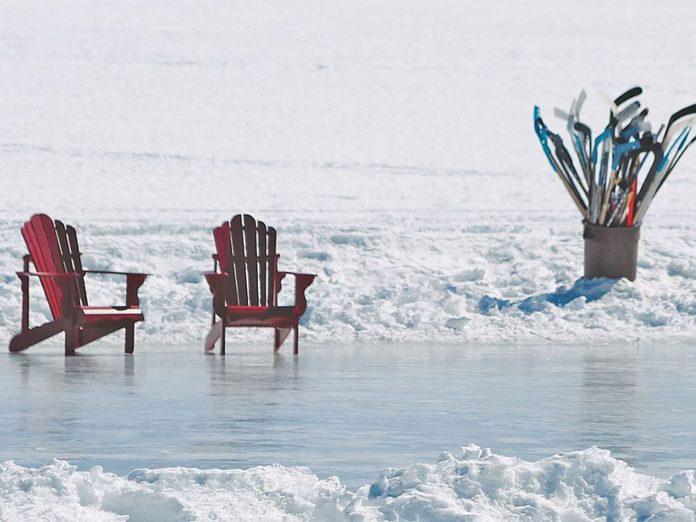 La beauté de l'hiver canadien à travers cette image du parc Algonquin.