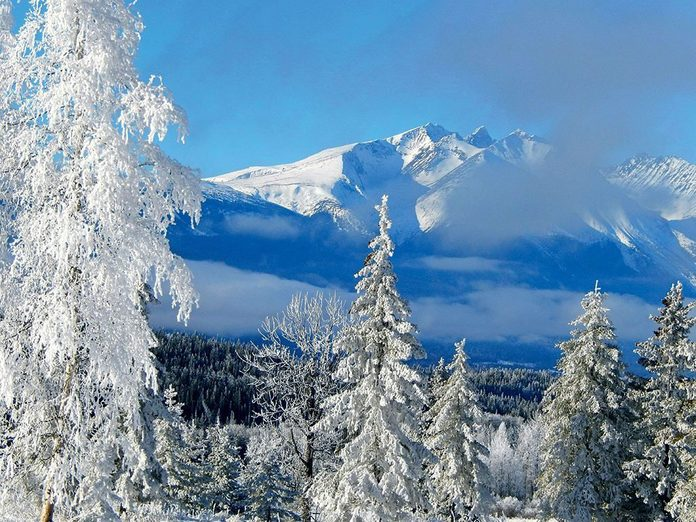 La beauté de l'hiver canadien à travers cette image de la vallée de Bulkley.