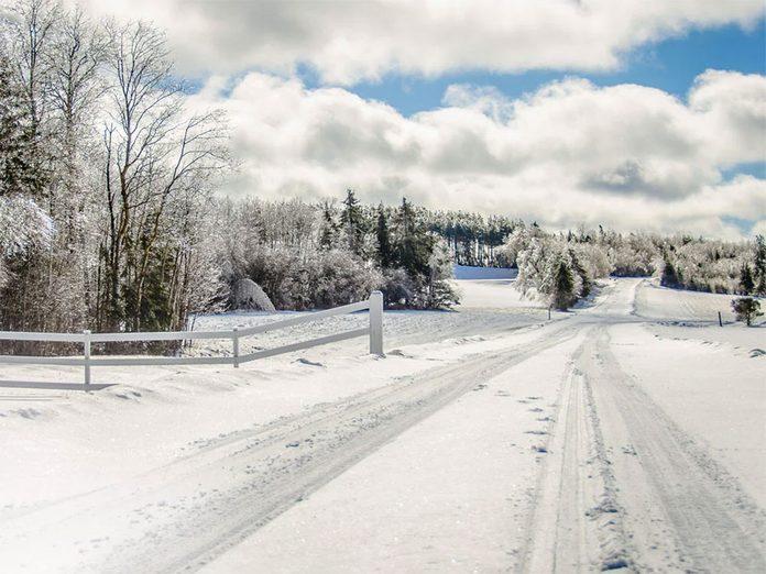 La beauté de l'hiver canadien à travers cette image prise à Thorburn en Nouvelle-Écosse.