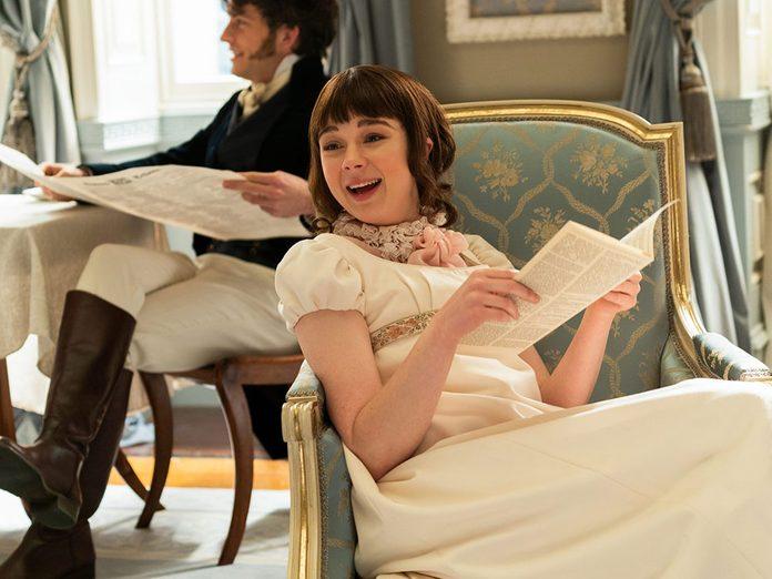Le personnage de Éloïse Bridgerton dans la série Netflix «La chronique des Bridgerton».