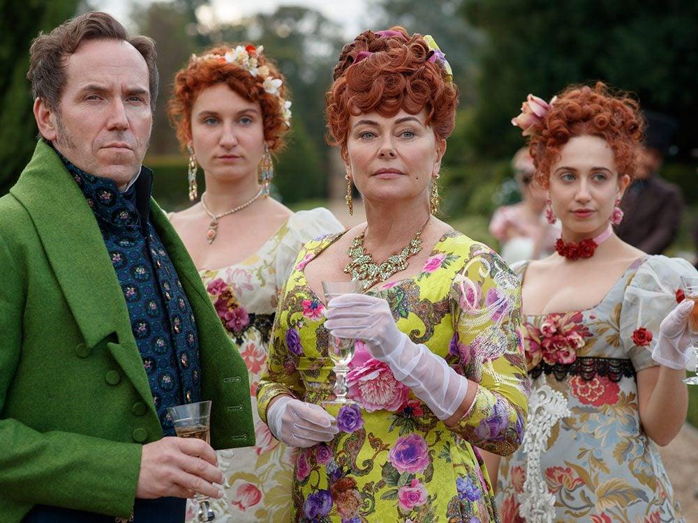 Le personnage de Lady Featherington dans la série Netflix «La chronique des Bridgerton».