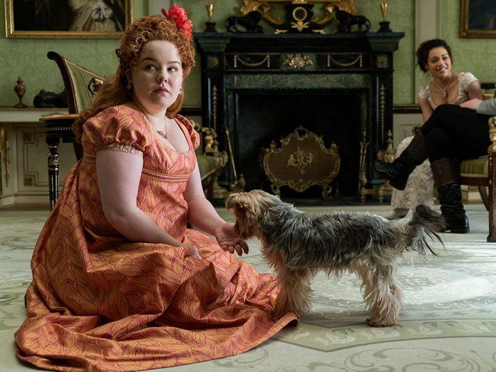 Le personnage de Penelope Featherington dans la série Netflix «La chronique des Bridgerton».