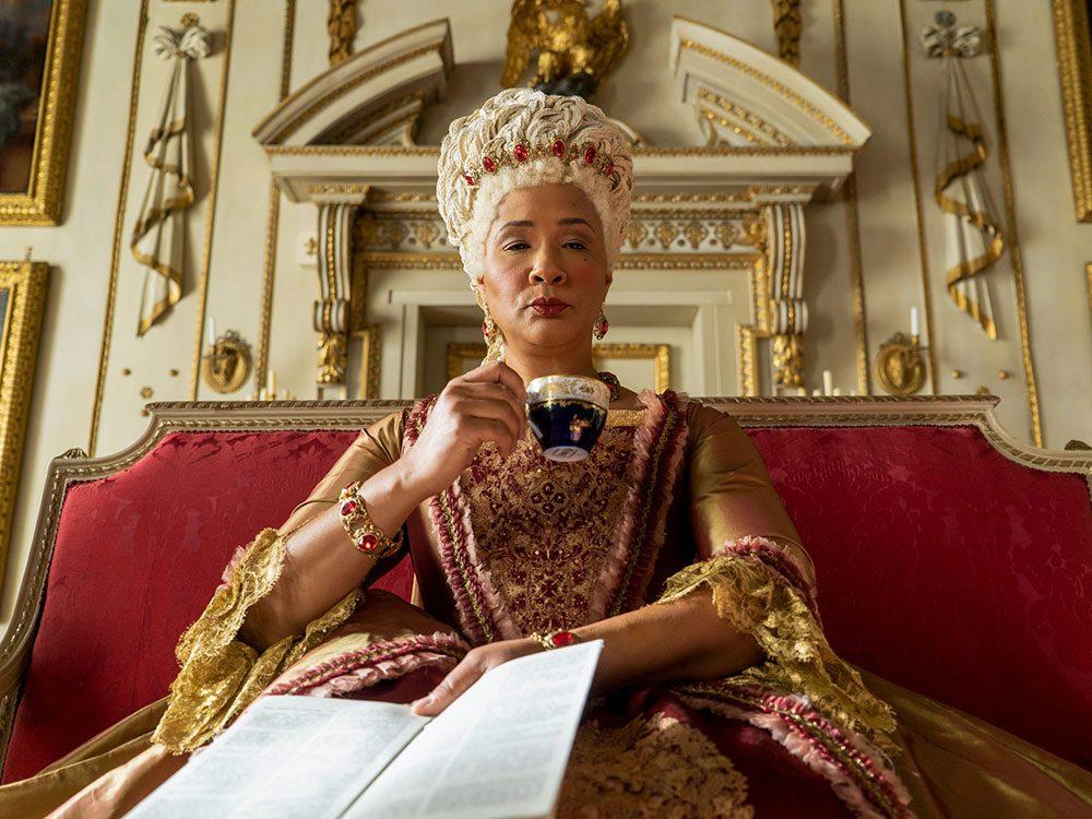 Le personnage de la Reine Charlotte dans la série Netflix «La chronique des Bridgerton».