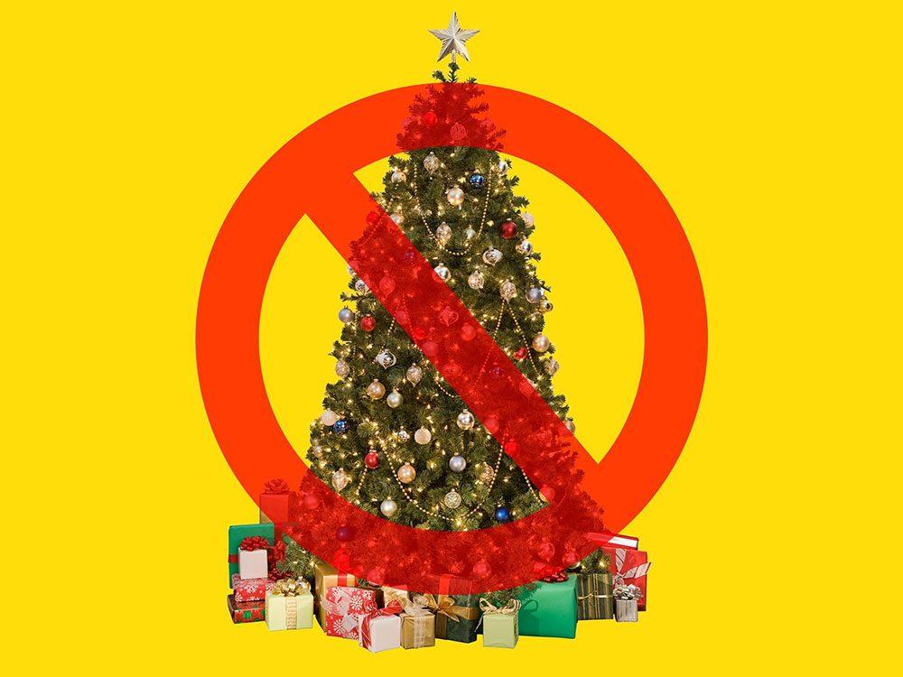 Les arbres de Noël sont interdits à la Maison Blanche.
