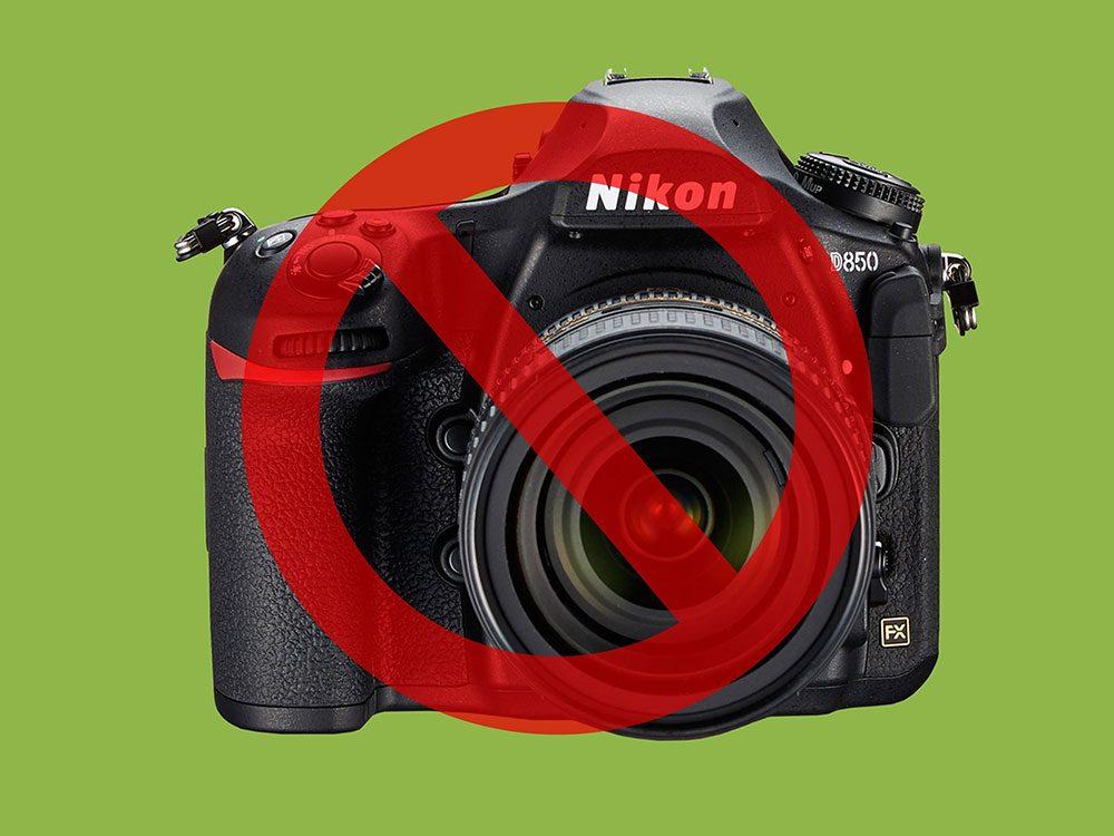 Les appareils-photo sont interdits à la Maison Blanche.