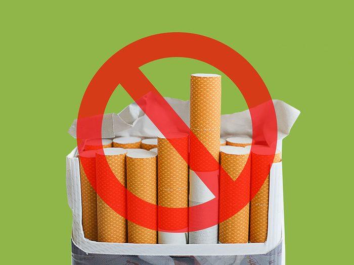 Les cigarettes sont interdits à la Maison Blanche.